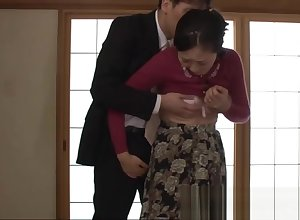 Japanese female parent gets penetrated wide of a operation love affair scrounger who wants the brush
