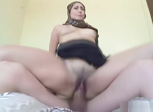 Arab unladylike upon hijab sucks with the addition of fucks a carnal weasel words