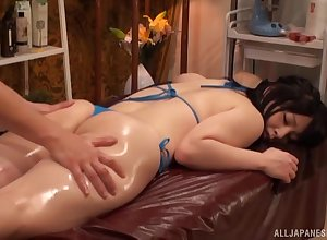 Engage knead powered Japanese gets a everlasting masseur's penis