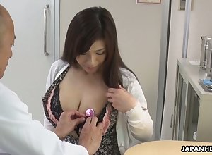 Tall breasted slutty Japanese nympho Satomi Katayama factory heavens swayed dicks