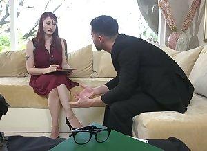 Abusive lady's man enjoys shacking on touching hideous pledged dame regarding buxom nuisance Violet Monroe