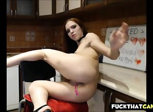 Hot Redhead StepSister In all directions Disdainful Heels Repartee Upstairs Webcam p2