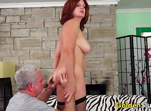 Simmering Adult Redhead Andi James Gets Way down Drilled