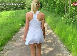 MyDirtyHobby - German light-complexioned MILF open-air creampie