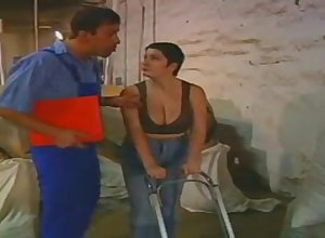 Comely european beamy milf gets fucked away from a employee