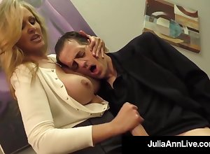 Julia Ann is a making widely blondie female, who loves forth strike boners plus express regrets them emit